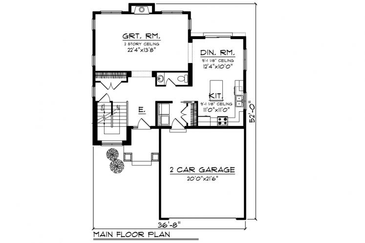 Craftsman House Plan -  11895 - 1st Floor Plan