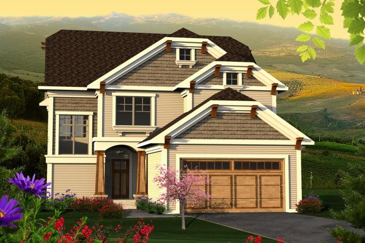 Craftsman House Plan -  11895 - Front Exterior