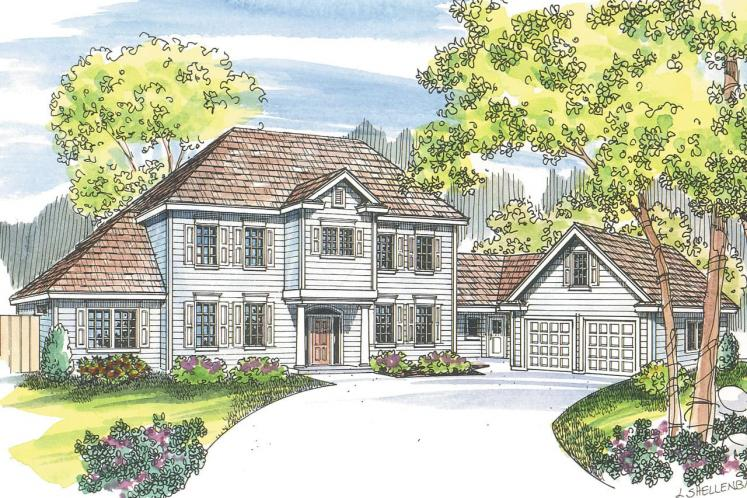 Cape Cod House Plan - Lansford 11940 - Front Exterior