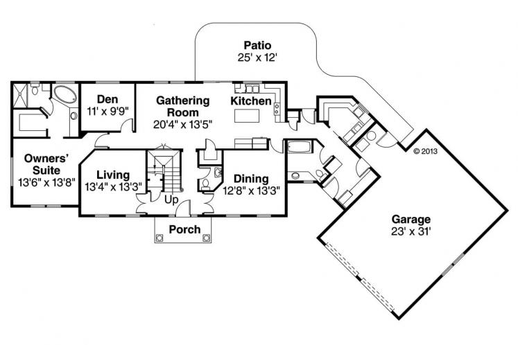 Country House Plan - Lansford 11940 - 1st Floor Plan