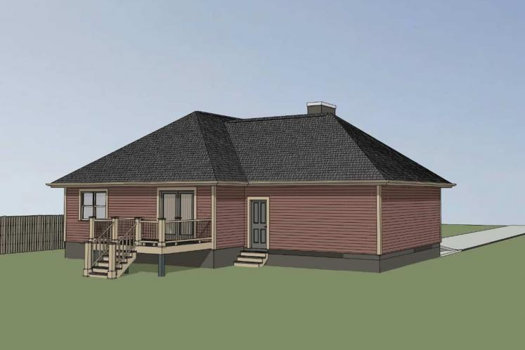 Bungalow House Plan -  11990 - Left Exterior