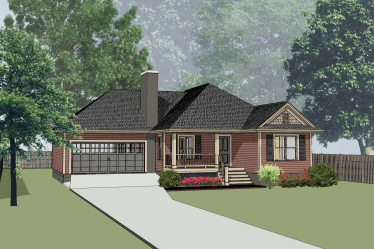 Country House Plan -  11990 - Front Exterior