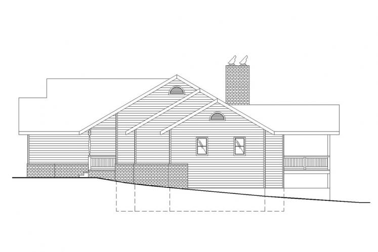 Ranch House Plan -  12048 - Right Exterior