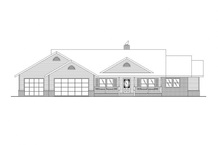 Traditional House Plan -  12048 - Front Exterior