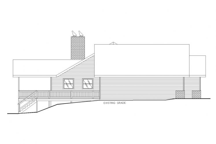 Country House Plan -  12048 - Left Exterior