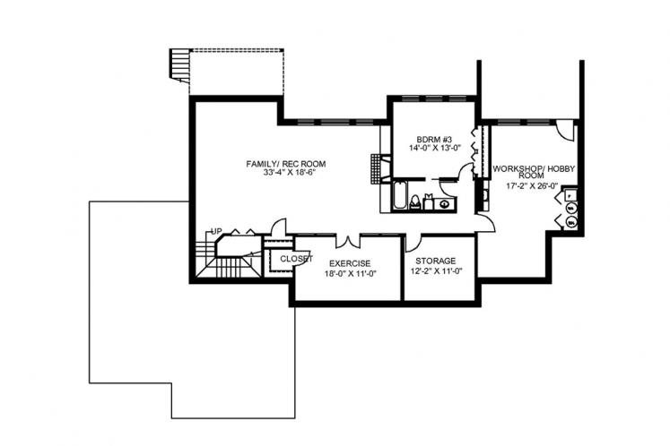Country House Plan -  12048 - Basement Floor Plan