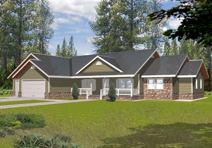 Country House Plan -  12048 - Front Exterior