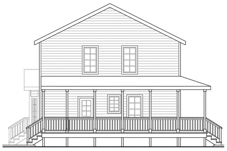 Traditional House Plan - Pine Hill 12074 - Left Exterior