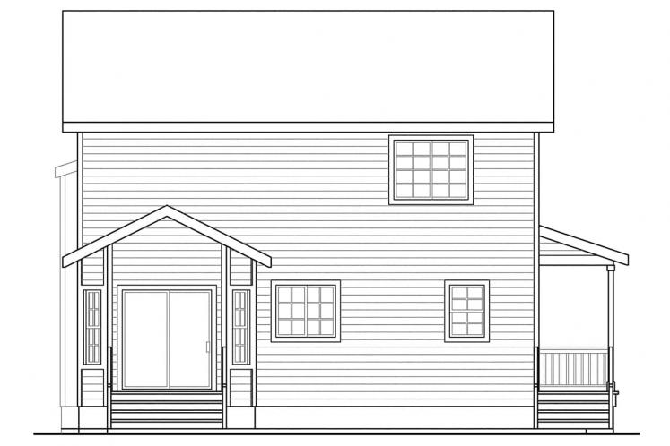 Cottage House Plan - Pine Hill 12074 - Rear Exterior