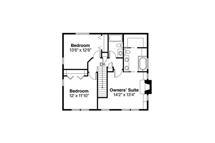 Traditional House Plan - Pine Hill 12074 - 2nd Floor Plan