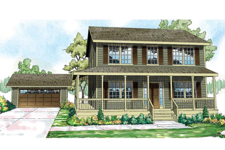 Country House Plan - Pine Hill 12074 - Front Exterior