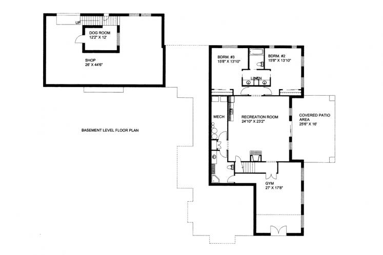 Country House Plan -  12099 - Basement Floor Plan