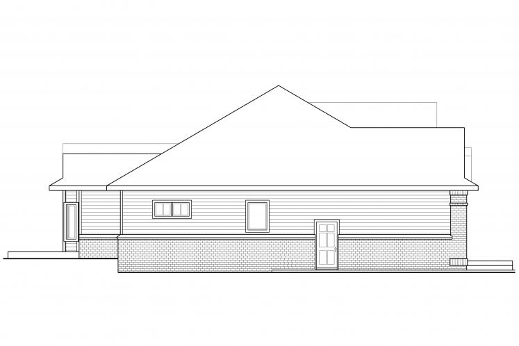 Ranch House Plan - Stansbury 12238 - Left Exterior