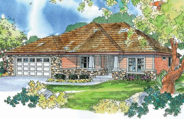 Ranch House Plan - Riverside 12253 - Front Exterior