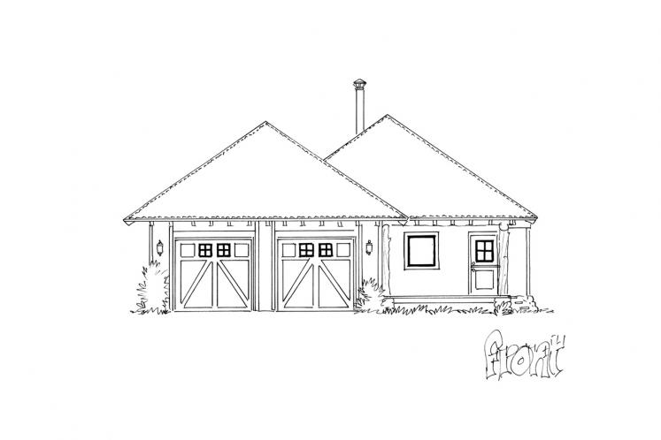 Farmhouse House Plan - Timbervail 12262 - Front Exterior
