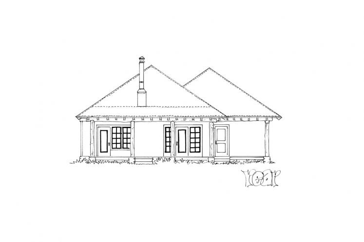 Ranch House Plan - Timbervail 12262 - Rear Exterior