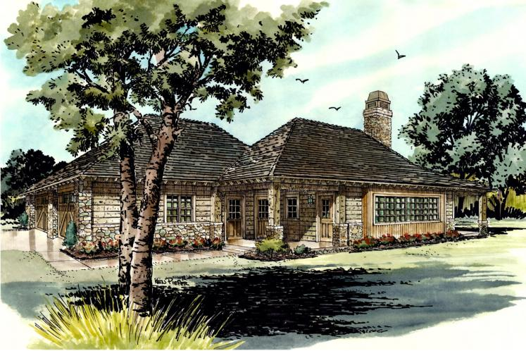 Country House Plan - Timbervail 12262 - Right Exterior
