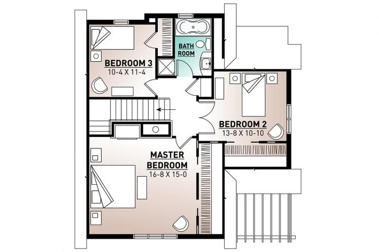 Country House Plan - Cotswold 12274 - 2nd Floor Plan