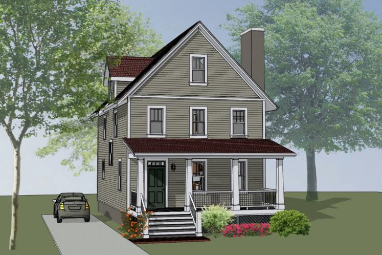 Country House Plan -  12298 - Front Exterior