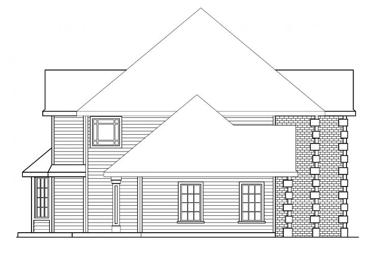 Classic House Plan - Kersley 12358 - Left Exterior