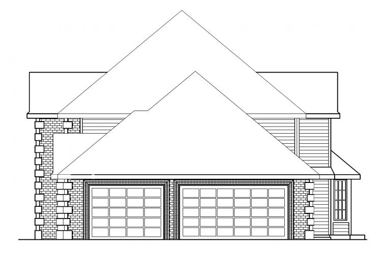 Traditional House Plan - Kersley 12358 - Right Exterior