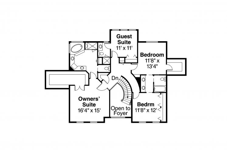 Traditional House Plan - Kersley 12358 - 2nd Floor Plan