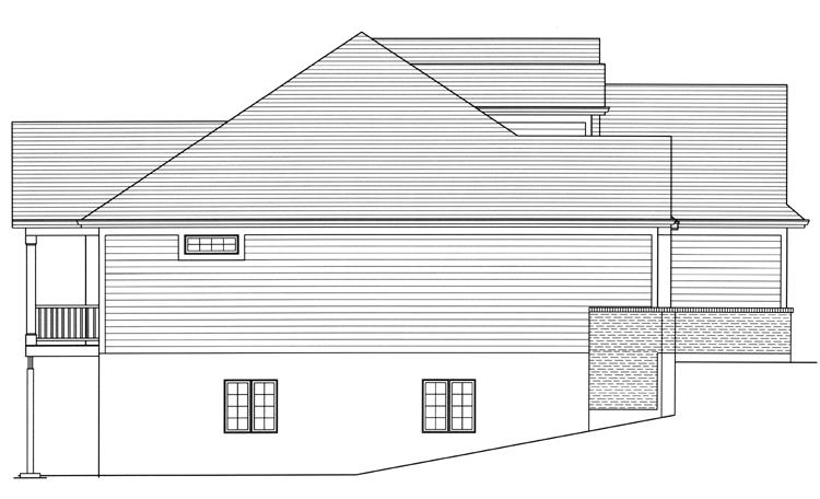 Ranch House Plan - Baldwin 12361 - Left Exterior