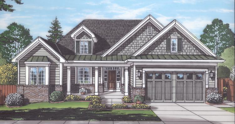 Ranch House Plan - Baldwin 12361 - Front Exterior