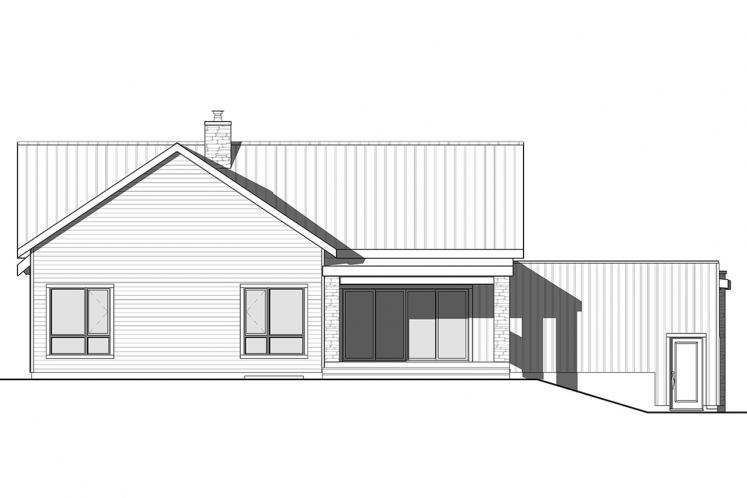 Ranch House Plan - Olympe 3 12408 - Rear Exterior