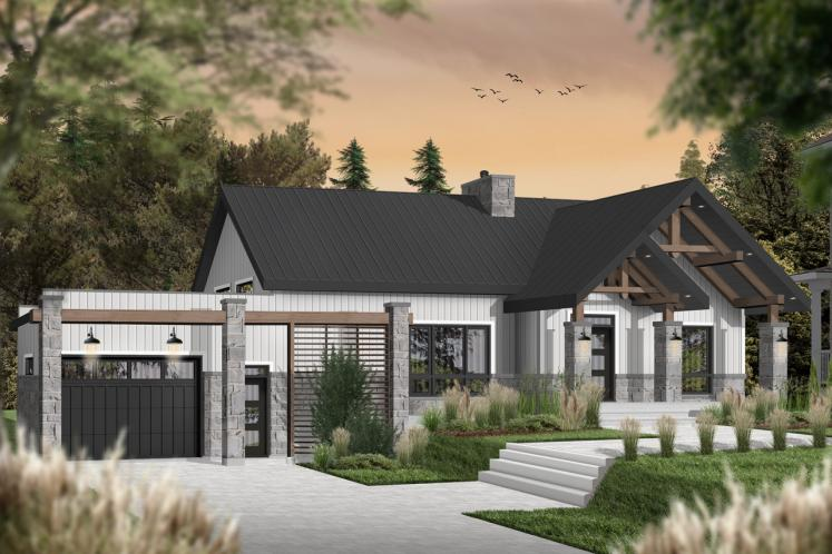 Farmhouse House Plan - Olympe 3 12408 - Front Exterior