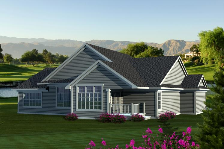 Classic House Plan -  12468 - Rear Exterior