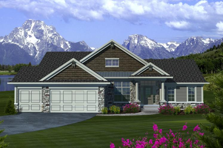 Ranch House Plan -  12468 - Front Exterior