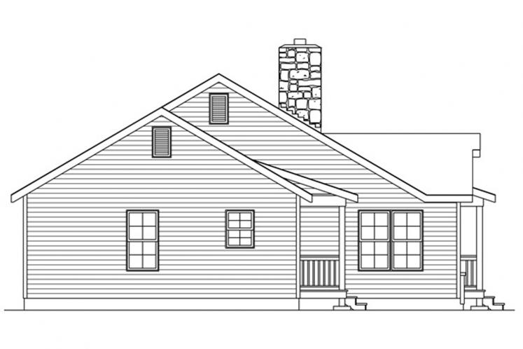 Country House Plan -  12520 - Left Exterior