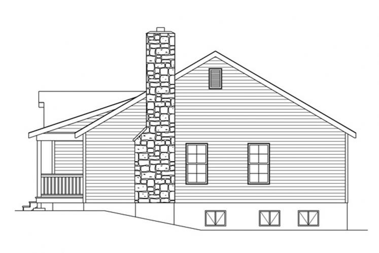 Ranch House Plan -  12520 - Right Exterior