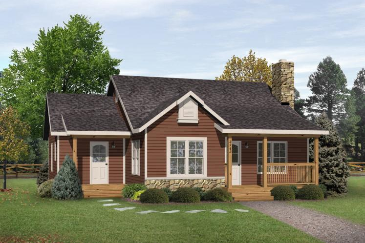 Ranch House Plan -  12520 - Front Exterior