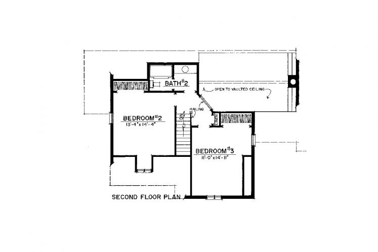 Country House Plan -  12575 - 2nd Floor Plan
