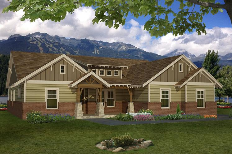 Craftsman House Plan -  12581 - Front Exterior