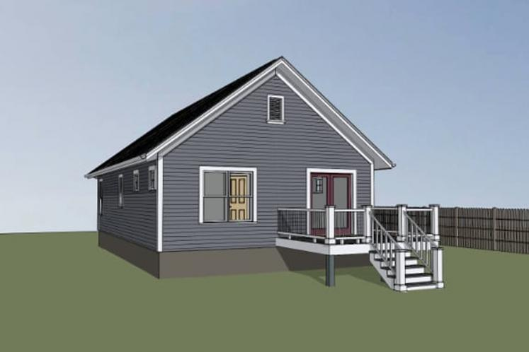 Cottage House Plan -  12720 - Right Exterior