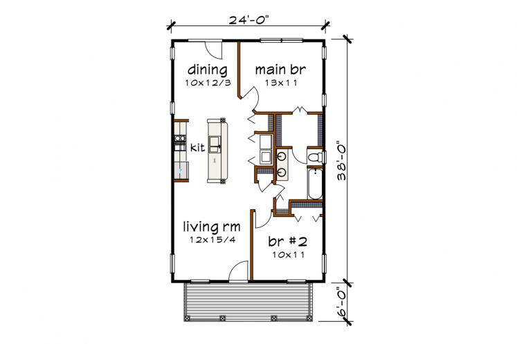 Country House Plan -  12720 - 1st Floor Plan