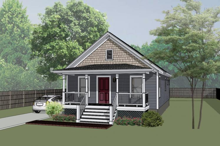 Country House Plan -  12720 - Front Exterior