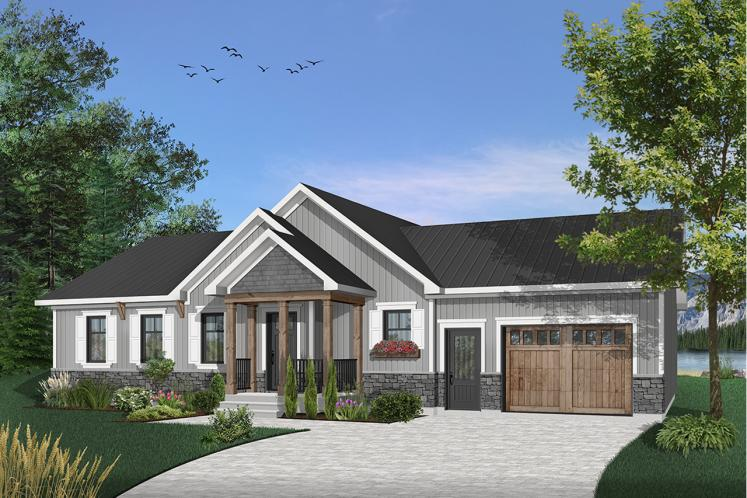 Ranch House Plan - Erindale 4 12765 - Front Exterior