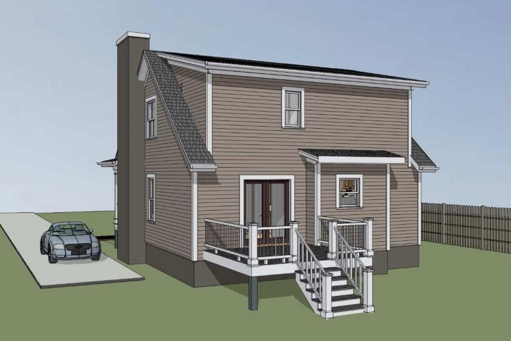 Country House Plan -  12875 - Right Exterior