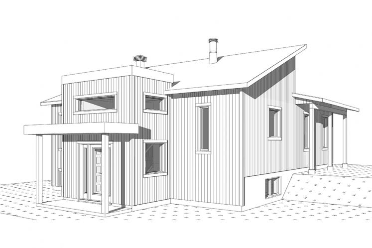 Contemporary House Plan - Billy 12900 - Front Exterior