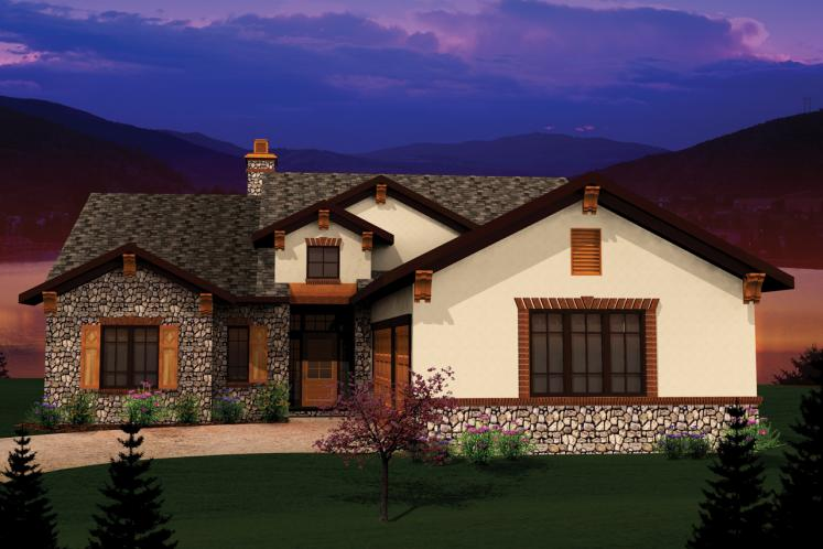 Ranch House Plan -  12914 - Front Exterior