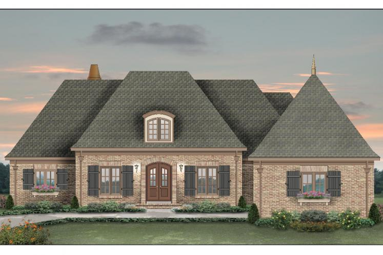 European House Plan -  13042 - Front Exterior