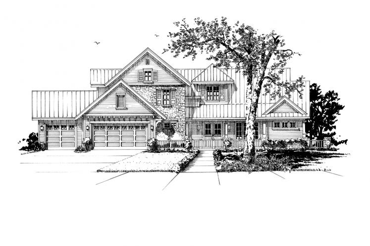 Farmhouse House Plan - Heartland 13048 - Front Exterior