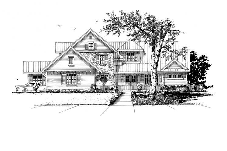 Traditional House Plan - Heartland 13048 - Front Exterior