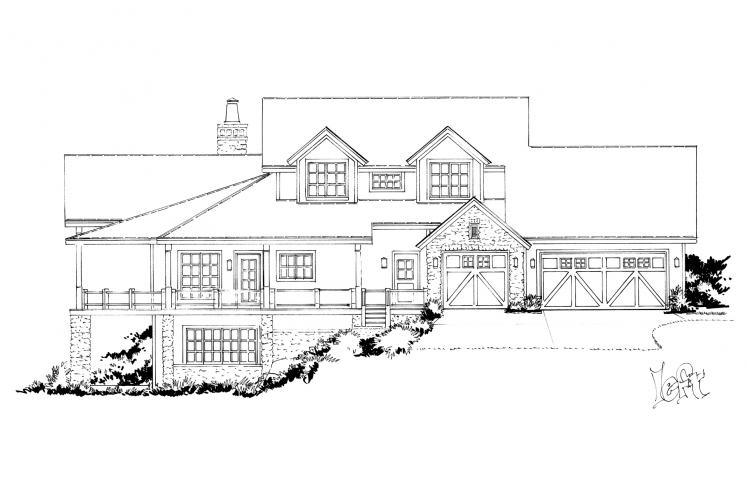 Country House Plan - Heartland 13048 - Left Exterior