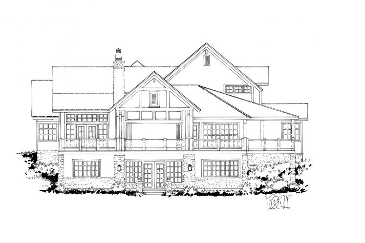 Traditional House Plan - Heartland 13048 - Rear Exterior