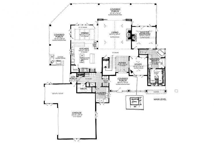 Country House Plan - Heartland 13048 - 1st Floor Plan